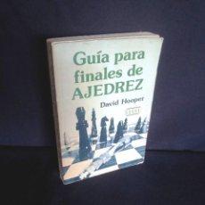 Coleccionismo deportivo: DAVID HOOPER - GUIA PARA FINALES DE AJEDREZ - COMPAÑIA EDITORIAL CONTINENTAL 1ª EDICION 1975. Lote 210118767