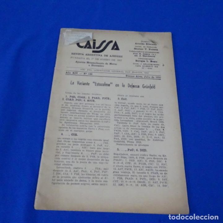 REVISTA DE AJEDREZ CAISSA NÚMERO 126.VARIANTE ESTOCOLMO.Y NÚMERO 112. (Coleccionismo Deportivo - Libros de Ajedrez)