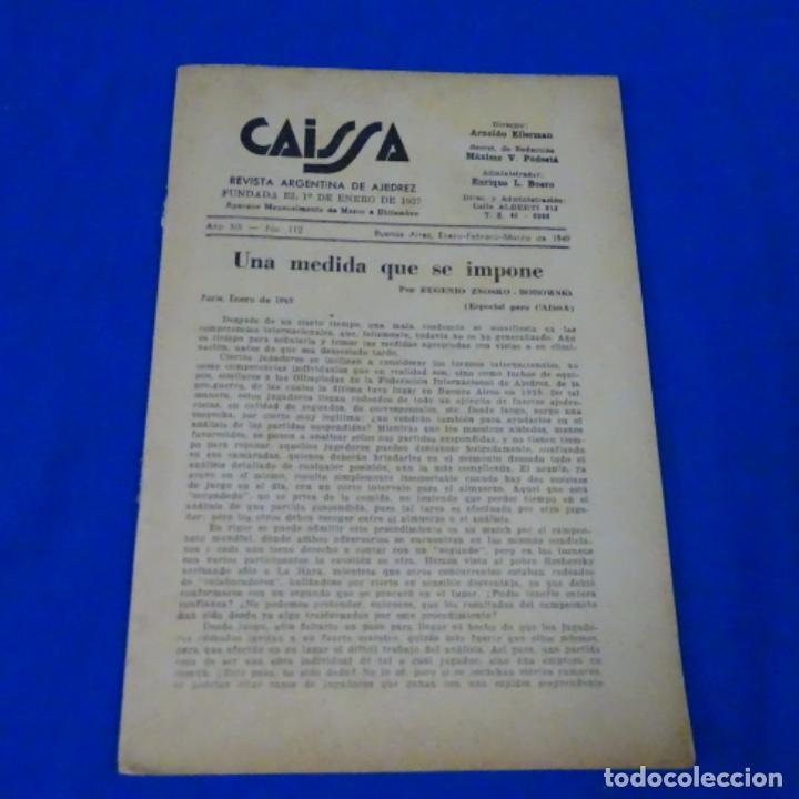 Coleccionismo deportivo: Revista de ajedrez caissa número 126.variante Estocolmo.y número 112. - Foto 5 - 210153123