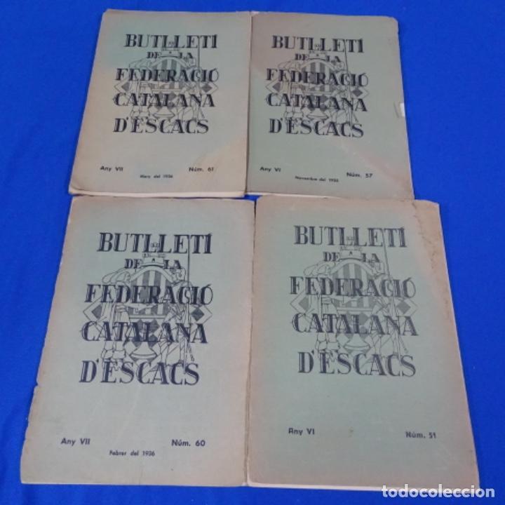 REVISTA DE AJEDREZ BUTLLETI DE LA FEDERACIÓ CATALANA D'ESCACS.NUMEROS 51-57-60 Y 61 Y DESHECHOS (Coleccionismo Deportivo - Libros de Ajedrez)