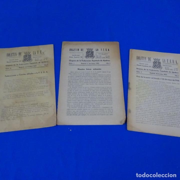 REVISTA DE AJEDREZ BOLETÍN DE LA FEDERACIÓN ESPAÑOLA DE AJEDREZ.NUMEROS 2,6 Y 7 DEL AÑO 1935. (Coleccionismo Deportivo - Libros de Ajedrez)