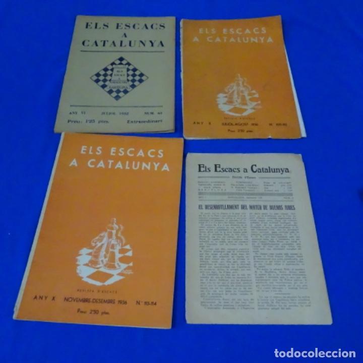 REVISTA DE AJEDREZ EL ESCACS A CATALUNYA.NUMEROS 6,61,109-110,113-114 (Coleccionismo Deportivo - Libros de Ajedrez)