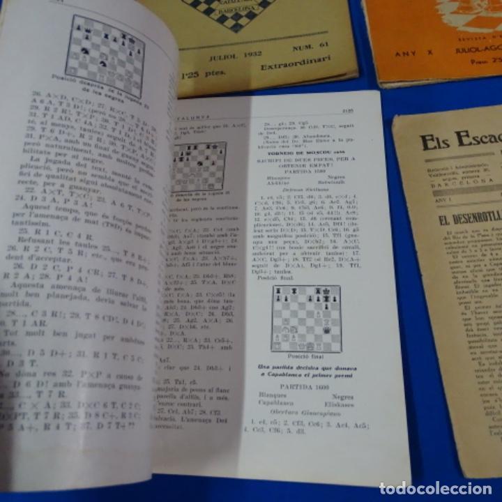 Coleccionismo deportivo: Revista de ajedrez el escacs a catalunya.numeros 6,61,109-110,113-114 - Foto 2 - 210153611
