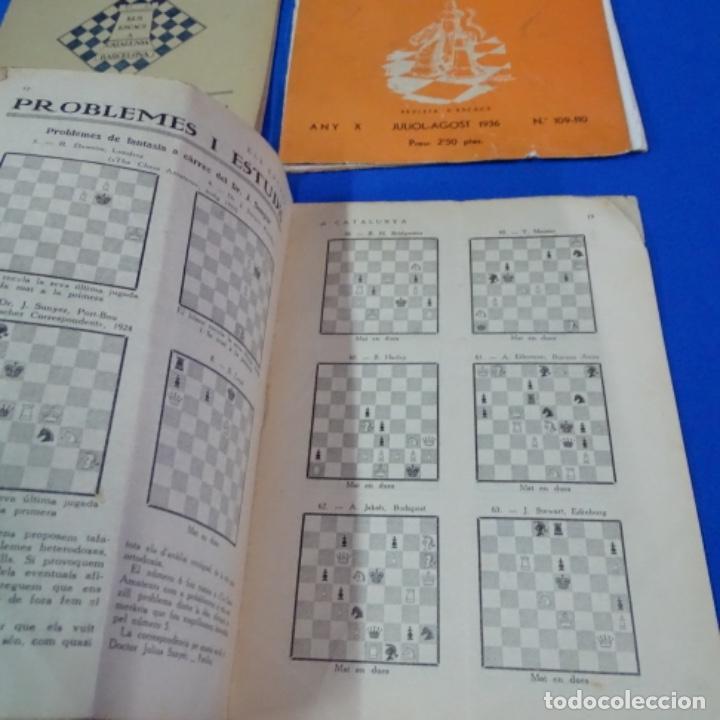 Coleccionismo deportivo: Revista de ajedrez el escacs a catalunya.numeros 6,61,109-110,113-114 - Foto 3 - 210153611
