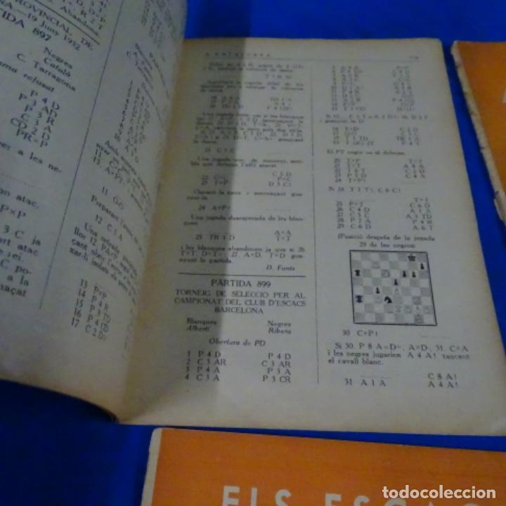 Coleccionismo deportivo: Revista de ajedrez el escacs a catalunya.numeros 6,61,109-110,113-114 - Foto 4 - 210153611