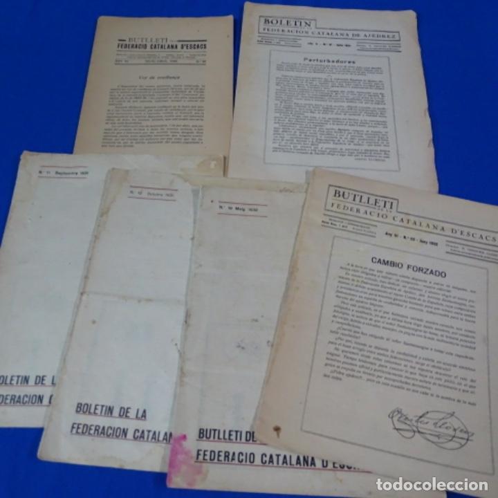 REVISTA DE AJEDREZ 6 BOLETÍN DE LA FEDERACIÓN CATALANA DE AJEDREZ.NUMEROS 5-11-12-19-20 Y 50. (Coleccionismo Deportivo - Libros de Ajedrez)