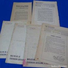 Coleccionismo deportivo: REVISTA DE AJEDREZ 6 BOLETÍN DE LA FEDERACIÓN CATALANA DE AJEDREZ.NUMEROS 5-11-12-19-20 Y 50.. Lote 210153720