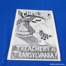Coleccionismo deportivo: REVISTA DE AJEDREZ CHESS MAÑANA.JOHN WATSON.1982.TREACHERY IN TRANSYLVANIA.. Lote 210153987