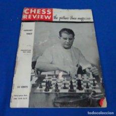 Coleccionismo deportivo: REVISTA DE AJEDREZ CHESS REVIEN.1947 JUNIO.. Lote 210154038