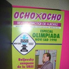 Colecionismo desportivo: LOTE 10 REVISTAS DE AJEDREZ OCHO X OCHO ( INCLUYE ARCHIVADOR ). Lote 210206161