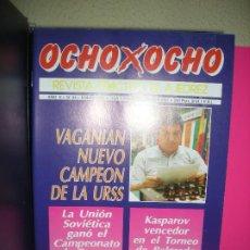 Colecionismo desportivo: LOTE 10 REVISTAS DE AJEDREZ OCHO X OCHO ( INCLUYE ARCHIVADOR ). Lote 210206285