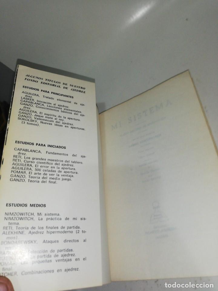 Coleccionismo deportivo: NIMZOWITCH - MI SISTEMA - Foto 3 - 210529258