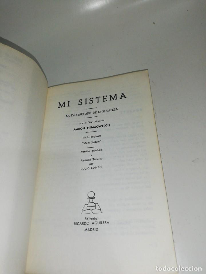 Coleccionismo deportivo: NIMZOWITCH - MI SISTEMA - Foto 4 - 210529258