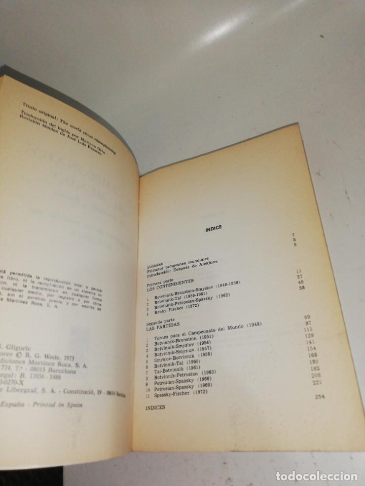 Coleccionismo deportivo: S. GLIGORIC - LOS CAMPEONATOS DEL MUNDO , DE BOTVINNIK A FISCHER - Foto 3 - 210529276