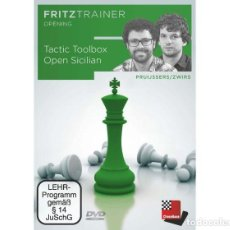 Coleccionismo deportivo: AJEDREZ. CHESS. TACTIC TOOLBOX OPEN SICILIAN - ROELAND PRUIJSSERS/NICO ZWIRS DVD. Lote 210964235