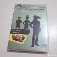 Coleccionismo deportivo: AJEDREZ.CHESS. NUEVO DVD FRITZTRAINER OPENING VIKTOR BOLOGAN . BEATING THE SICILIAN VOL 2. Lote 213415007