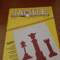 Coleccionismo deportivo: REVISTA JAQUE - Nº 148 - VER FOTOS PARA CONTENIDO - MUY BUEN ESTADO. Lote 213777030