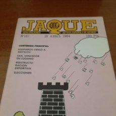 Coleccionismo deportivo: REVISTA JAQUE - Nº 151 - VER FOTOS PARA CONTENIDO - MUY BUEN ESTADO. Lote 213777165