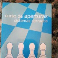 Collezionismo sportivo: CURSO DE APERTURAS. SISTEMAS CERRADOS. DANIEL ELGUEZÁBAL. Lote 214878615