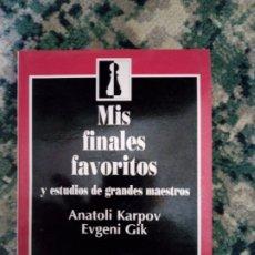 Collezionismo sportivo: MIS FINALES FAVORITOS. ANATOLI KARPOV Y EUGENI GIK. Lote 214973903