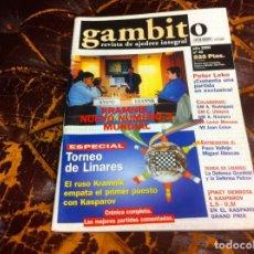 Collezionismo sportivo: REVISTA DE AJEDREZ. GAMBITO. Nº 40. AÑO 2000. PETER LEKO. ILLESCAS.... Lote 215264938