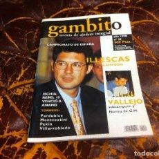 Collezionismo sportivo: REVISTA DE AJEDREZ. GAMBITO. Nº 22. AÑO 1998. ILLESCAS, CAMPEÓN. VALLEJO. Lote 215265346