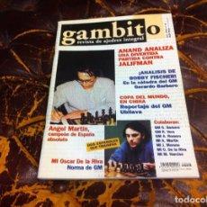 Collezionismo sportivo: REVISTA DE AJEDREZ. GAMBITO. Nº 46. AÑO 2000. ANAND. ¡ANÁLISIS DE BOBBY FISCHER!. Lote 215265690