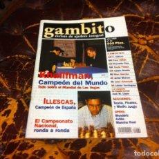 Collezionismo sportivo: REVISTA DE AJEDREZ. GAMBITO. Nº 34. AÑO 1999. KHALIFMAN. ILLESCAS, CAMPEÓN DE ESPAÑA. Lote 215367146