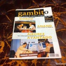 Collezionismo sportivo: REVISTA DE AJEDREZ. GAMBITO. Nº 19. AÑO 1998.. Lote 215369392