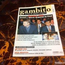 Collezionismo sportivo: REVISTA DE AJEDREZ. GAMBITO. Nº 49. AÑO 2001. Lote 215369797