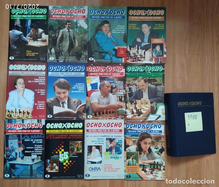 AJEDREZ REVISTA 8X8 OCHO X OCHO AÑO COMPLETO 1988 (Coleccionismo Deportivo - Libros de Ajedrez)