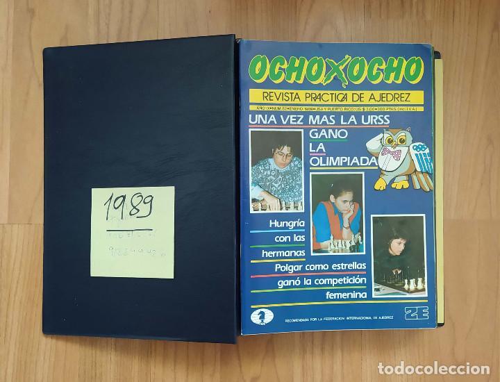 AJEDREZ REVISTA 8X8 OCHO X OCHO AÑO COMPLETO 1989 (Coleccionismo Deportivo - Libros de Ajedrez)