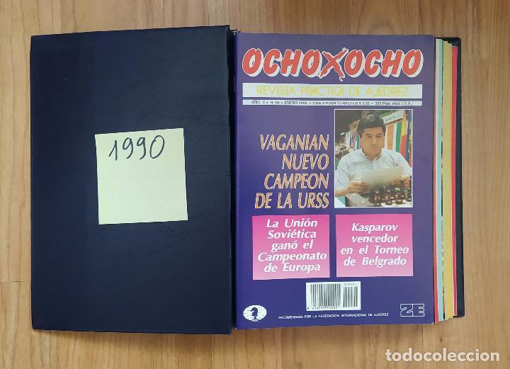 AJEDREZ REVISTA 8X8 OCHO X OCHO AÑO COMPLETO 1990 (Coleccionismo Deportivo - Libros de Ajedrez)