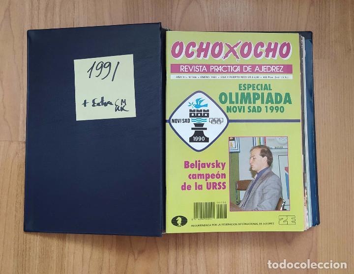 AJEDREZ REVISTA 8X8 OCHO X OCHO AÑO COMPLETO 1991 (Coleccionismo Deportivo - Libros de Ajedrez)