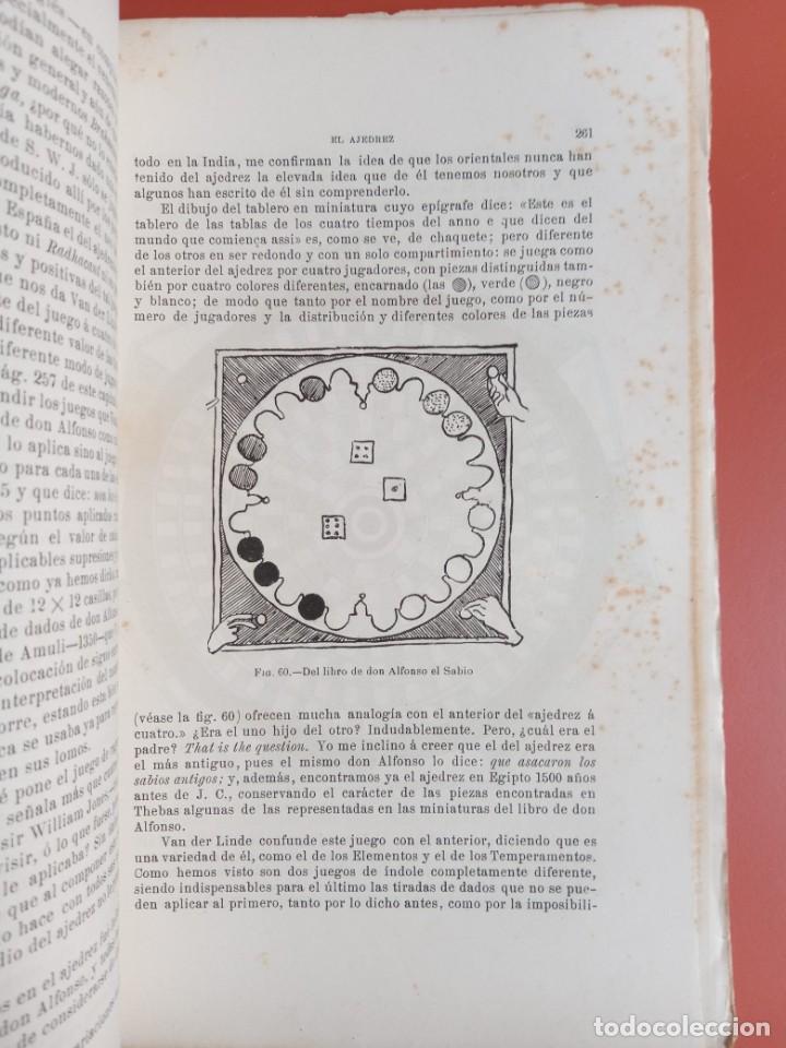 Coleccionismo deportivo: EL AJEDREZ - INVESTIGACIONES SOBRE SU ORIGEN - JOSE BRUNET Y BELLET - 1890 - ILUSTRADO - Foto 2 - 215799955