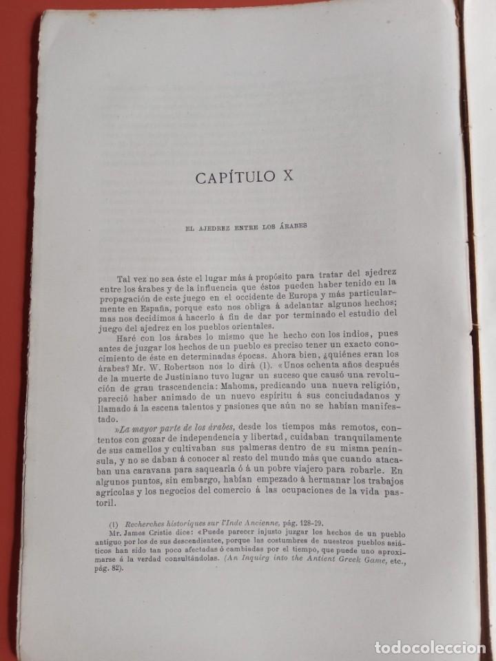 Coleccionismo deportivo: EL AJEDREZ - INVESTIGACIONES SOBRE SU ORIGEN - JOSE BRUNET Y BELLET - 1890 - ILUSTRADO - Foto 4 - 215799955
