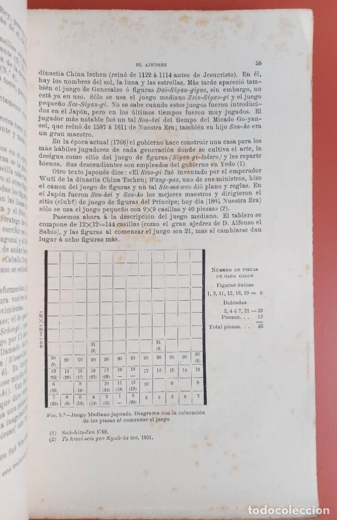 Coleccionismo deportivo: EL AJEDREZ - INVESTIGACIONES SOBRE SU ORIGEN - JOSE BRUNET Y BELLET - 1890 - ILUSTRADO - Foto 5 - 215799955