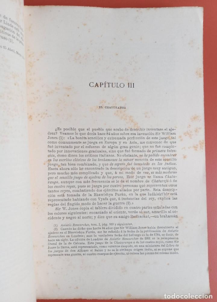 Coleccionismo deportivo: EL AJEDREZ - INVESTIGACIONES SOBRE SU ORIGEN - JOSE BRUNET Y BELLET - 1890 - ILUSTRADO - Foto 6 - 215799955