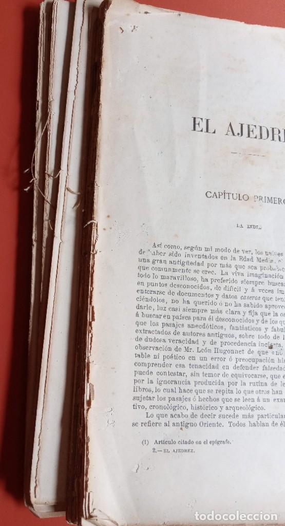 Coleccionismo deportivo: EL AJEDREZ - INVESTIGACIONES SOBRE SU ORIGEN - JOSE BRUNET Y BELLET - 1890 - ILUSTRADO - Foto 7 - 215799955
