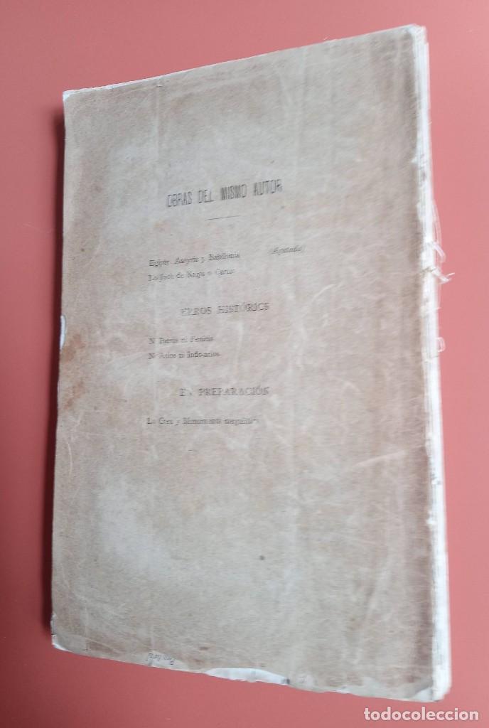 Coleccionismo deportivo: EL AJEDREZ - INVESTIGACIONES SOBRE SU ORIGEN - JOSE BRUNET Y BELLET - 1890 - ILUSTRADO - Foto 8 - 215799955