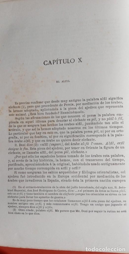 Coleccionismo deportivo: EL AJEDREZ - INVESTIGACIONES SOBRE SU ORIGEN - JOSE BRUNET Y BELLET - 1890 - ILUSTRADO - Foto 12 - 215799955