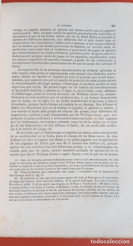 Coleccionismo deportivo: EL AJEDREZ - INVESTIGACIONES SOBRE SU ORIGEN - JOSE BRUNET Y BELLET - 1890 - ILUSTRADO - Foto 13 - 215799955