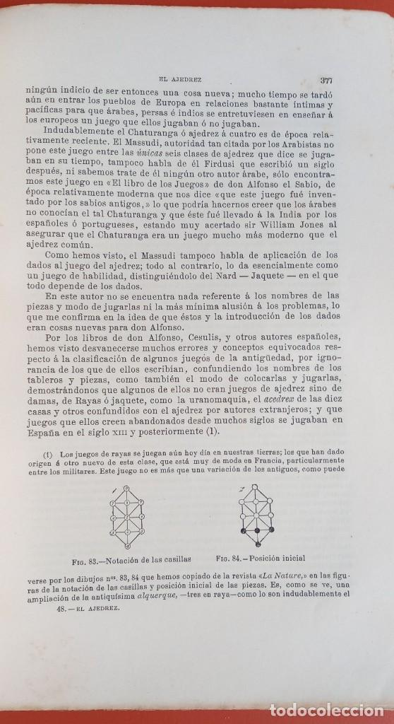 Coleccionismo deportivo: EL AJEDREZ - INVESTIGACIONES SOBRE SU ORIGEN - JOSE BRUNET Y BELLET - 1890 - ILUSTRADO - Foto 14 - 215799955