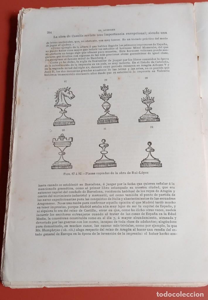 Coleccionismo deportivo: EL AJEDREZ - INVESTIGACIONES SOBRE SU ORIGEN - JOSE BRUNET Y BELLET - 1890 - ILUSTRADO - Foto 15 - 215799955