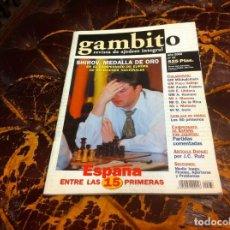 Collezionismo sportivo: REVISTA DE AJEDREZ. GAMBITO. Nº 37. AÑO 2000. Lote 215998415