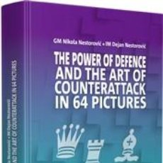 Coleccionismo deportivo: AJEDREZ. CHESS. THE POWER OF DEFENCE AND THE ART OF COUNTER IN 64 PICTURES (CARTONÉ). Lote 216455840