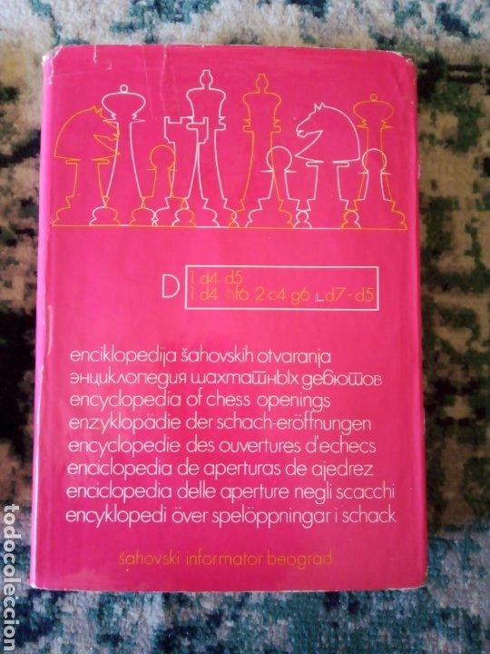 ENCICLOPEDIA DE APERTURAS TOMO D. BELGRADO (Coleccionismo Deportivo - Libros de Ajedrez)