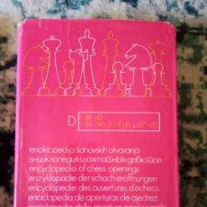 Coleccionismo deportivo: ENCICLOPEDIA DE APERTURAS TOMO D. BELGRADO. Lote 216760140