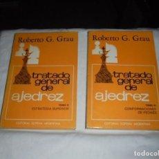 Coleccionismo deportivo: TRATADO GENERAL DE AJEDREZ .TOMOS III Y IV. ROBERTO G.GRAU.EDITORIAL SOPENA ARGENTINA 1982. Lote 217166026