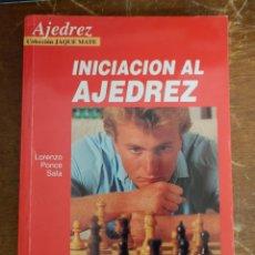 Coleccionismo deportivo: INICIACION DEL AJEDREZ PONCE SALA, PYMY 34. Lote 218590451